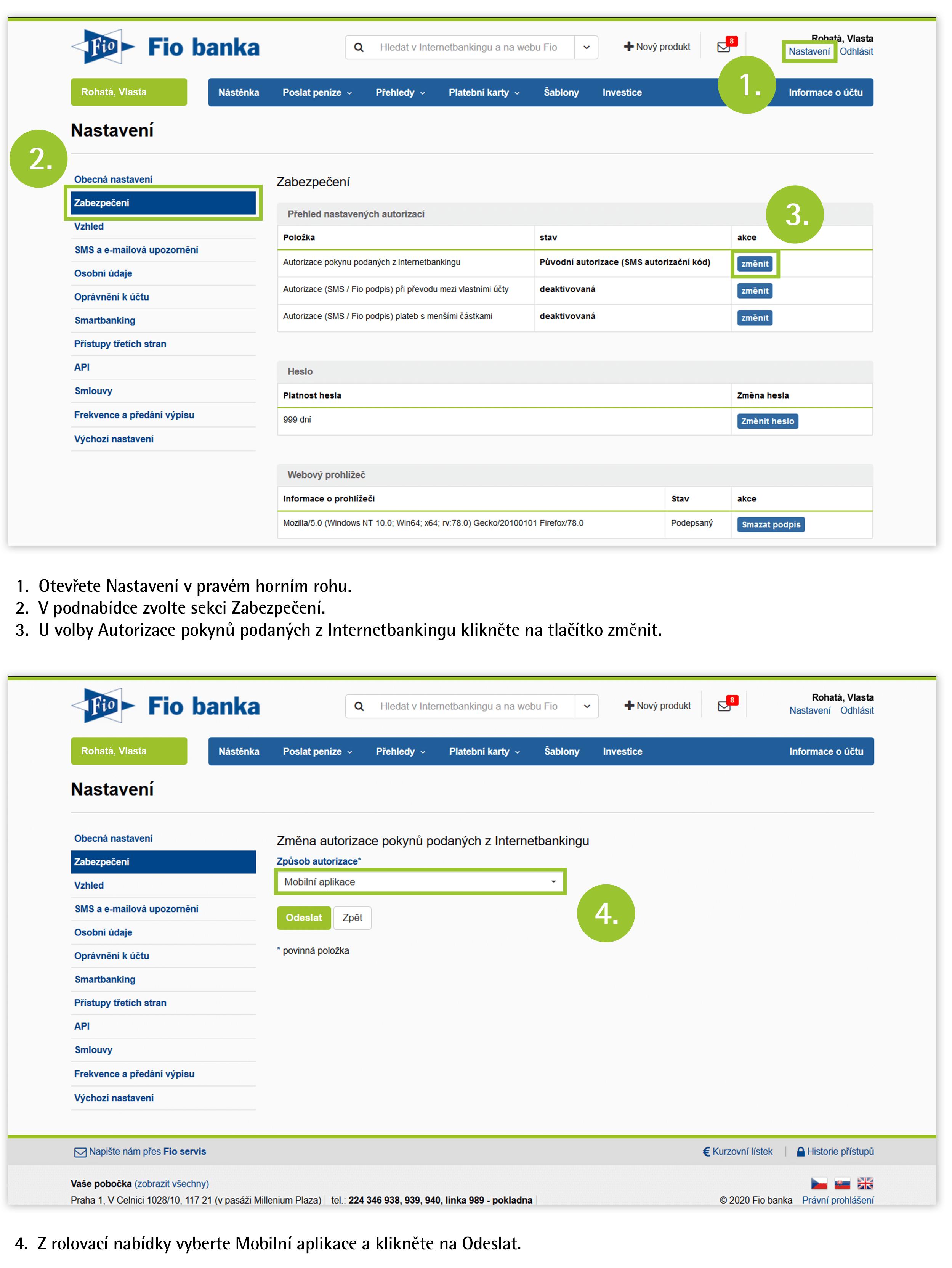 Návod: Nastavení push notifikací ve Smartbankingu