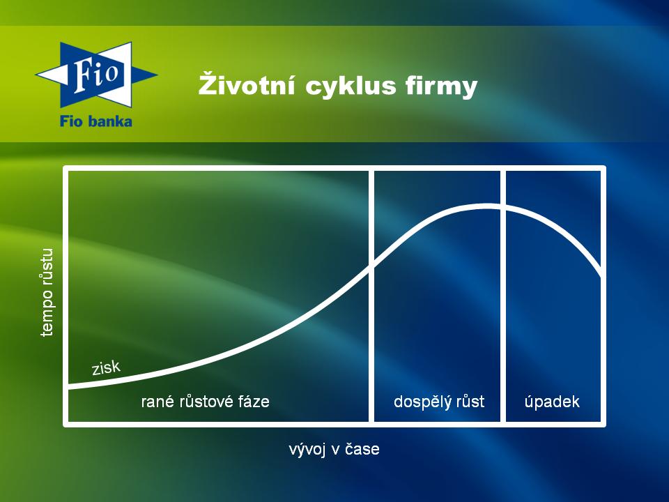 Nastínění životního cyklu firmy