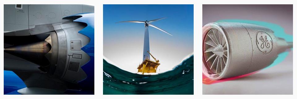 Koláž fotografií z Instagramu General Electric