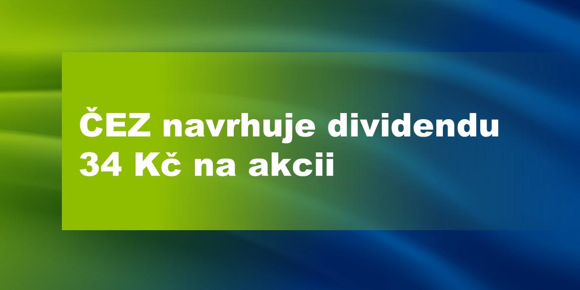 Návrh dividendy ČEZ 2020