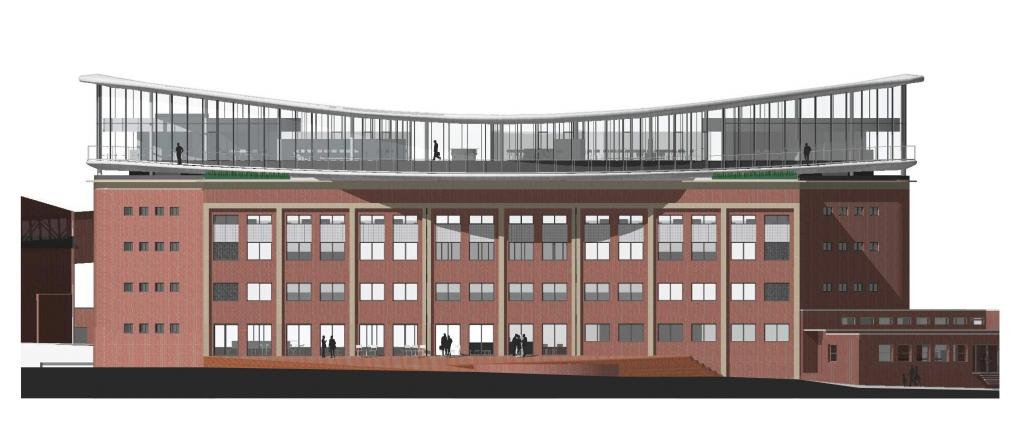 Vizualizace plánovaného nového sídla Kofoly po přestavbě