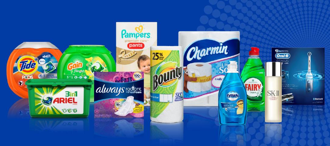 Část značek Procter & Gamble