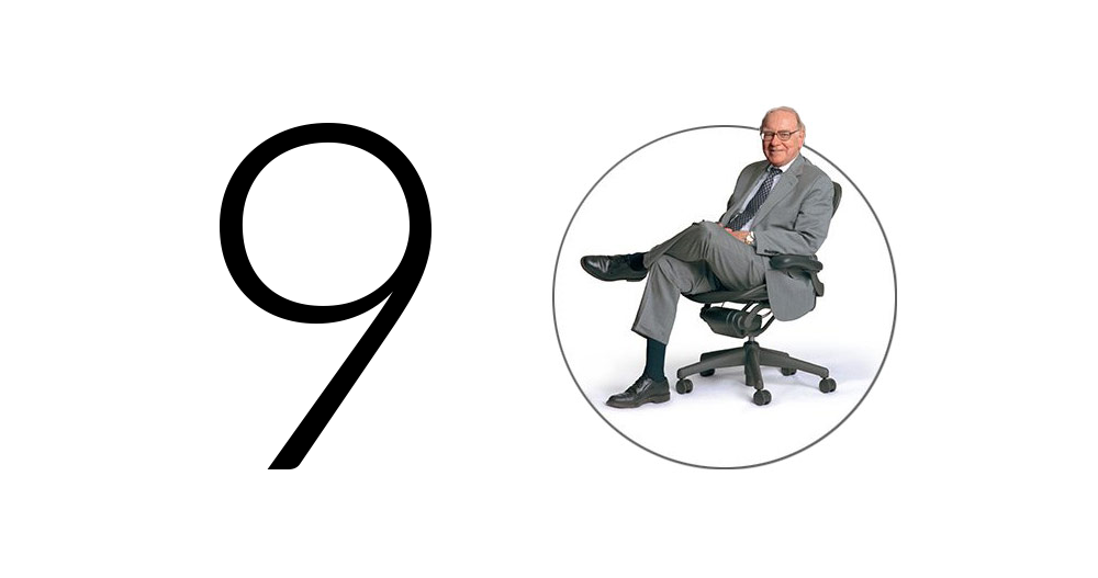 Koláž s fotkou Warrena Buffetta ze stránek dceřiného pronajímatele nábytku CORT Furniture