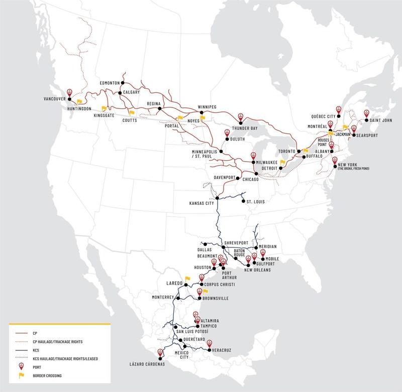 Železniční sítě obou společností se protínají jen v jednom bodě - Kansas City, analytici tak věří v souhlas regulátorů