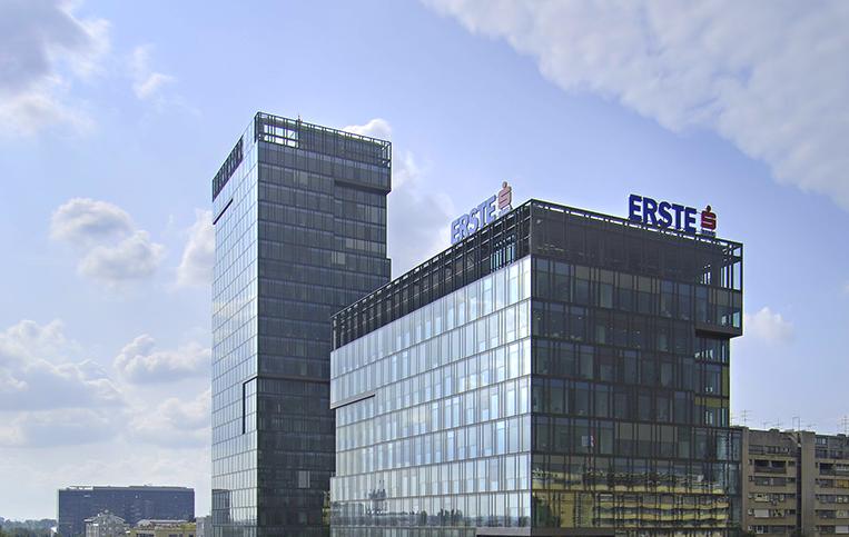 Kanceláře Erste Group Bank v Zahřebu
