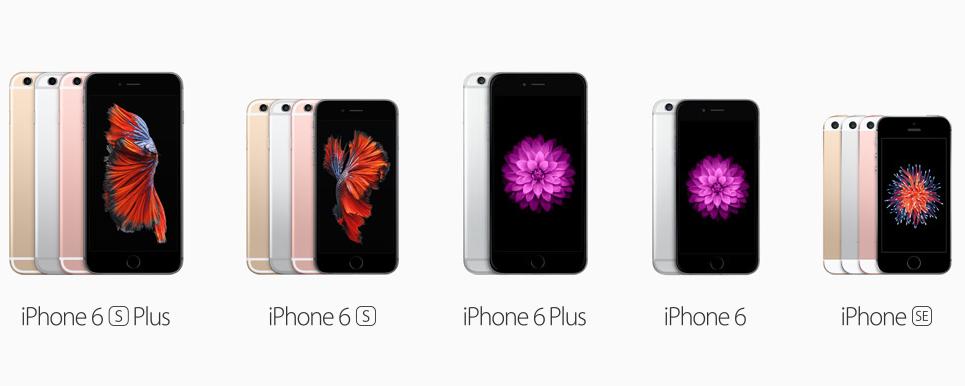 Současná nabídka telefonů iPhone: inovované modely 6S, modely 6 a levnější model SE v designu 5. generace