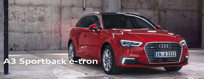 Audi nový model A3 E-Tron