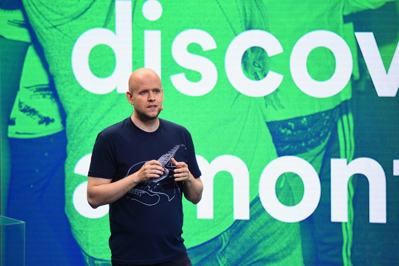 Zakladatel společnosti Spotify Daniel Ek na snímku z roku 2015